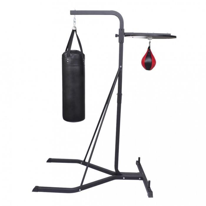 Accessoires de punching-ball Plateforme avec poire de vitesse et sac de frappe