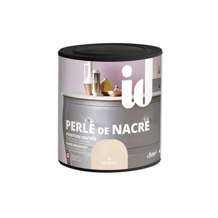 Peinture meubles et boiseries PERLE DE NACRE 500ML 0,5 Sélènite