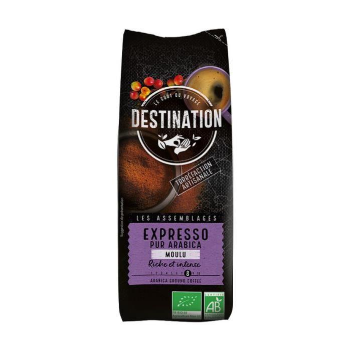 Destination Bio+Expresso Pur Arabica Bio - Moulu 250 g
