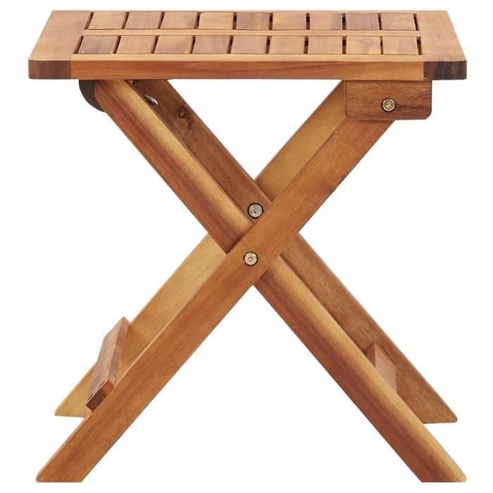 Super -Table de jardin pliable - Table d'appoint Table de reception 40x40x40 cm Bois d'acacia massif @845600