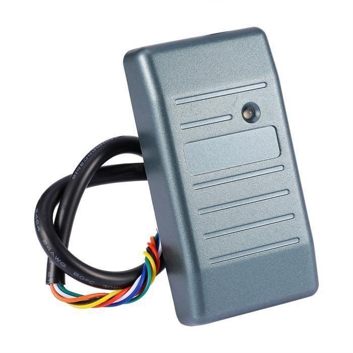 Lecteur de contrôle d\'accès de carte d\'identité de sécurité RFID 125KHz Wiegand 26 JS imperméable