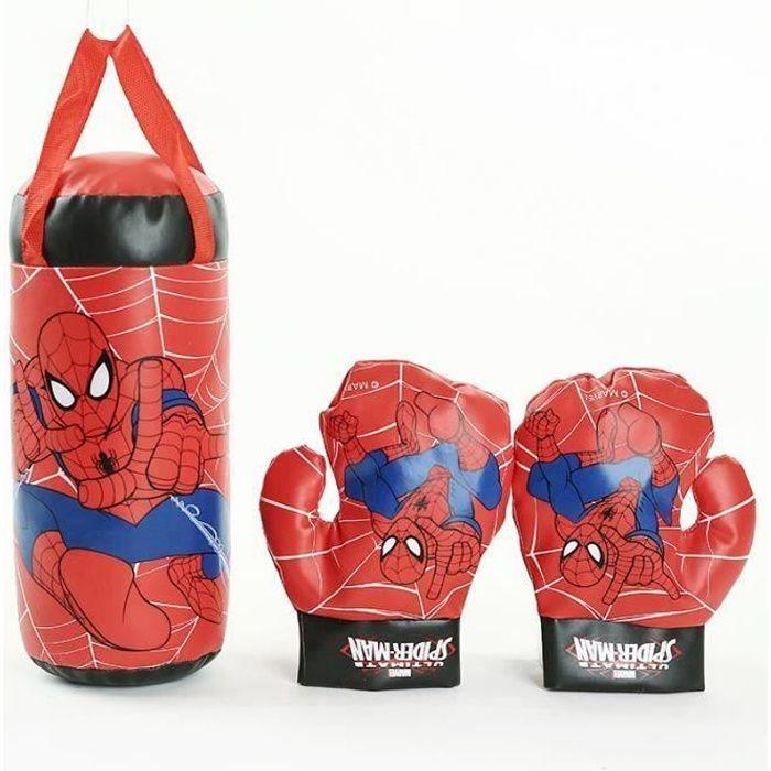 MENGMA Gant de Boxe Sac de Frappe Sport Jouet de Combat Rouge pour Enfants