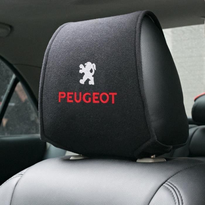 Accessoires Voiture,1 pièces Chaude couverture d'appuie tête de voiture pour Peugeot 206 207 307 3008 2008 308 408 508 301 208