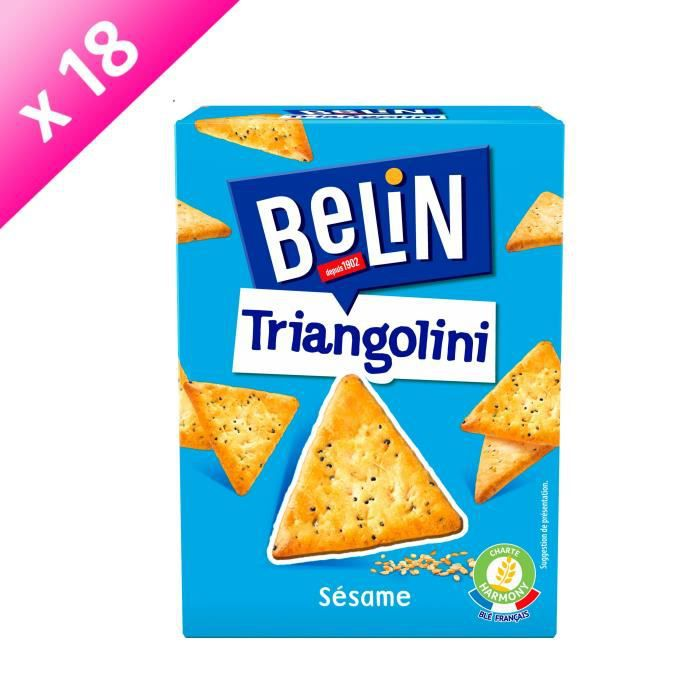 [LOT DE 18] BELIN Crackers Triangolini Pavot Sésame 100g