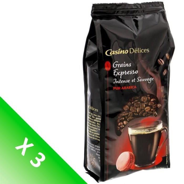 [LOT DE 3] Café Grains Espresso Intense et Sauvage - 250 g