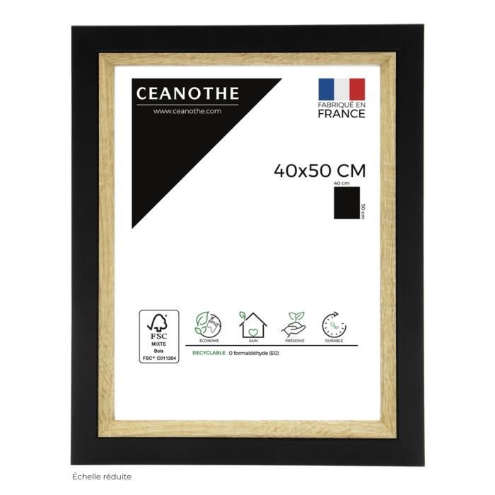 Cadre photo Actual bois noir 40x50 cm