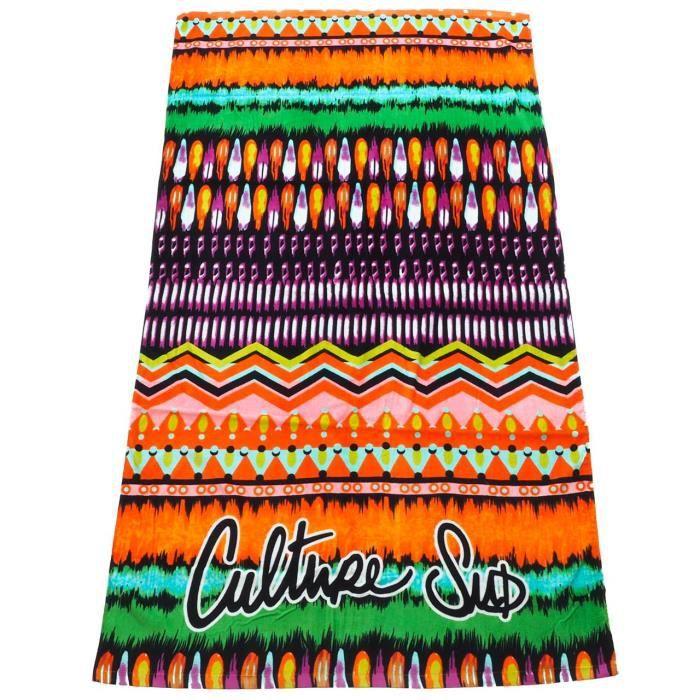 Serviette de bain drap de plage Gloriane 100*180cm serviette plage - Culture sud UNI Orange