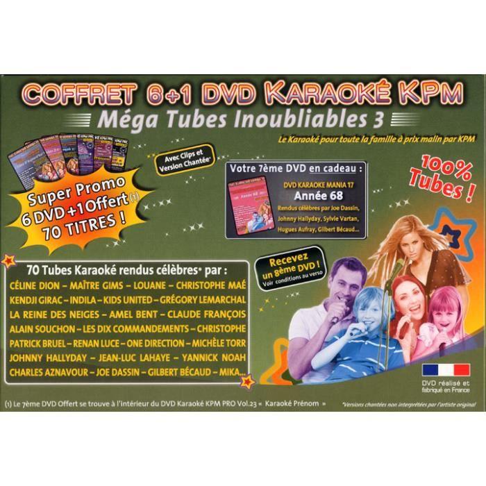Coffret 6 DVD +1 Karaoké KPM -Mega Tubes Inoubliables 3b-