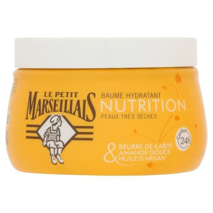 LOT DE 10 - LE PETIT MARSEILLAIS Nutrition Baume hydratant karité amande argan - pot de 250 ml