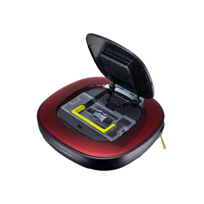 LG Hom-Bot Square VRD710RRC Aspirateur robot sans sac Rouge rubis