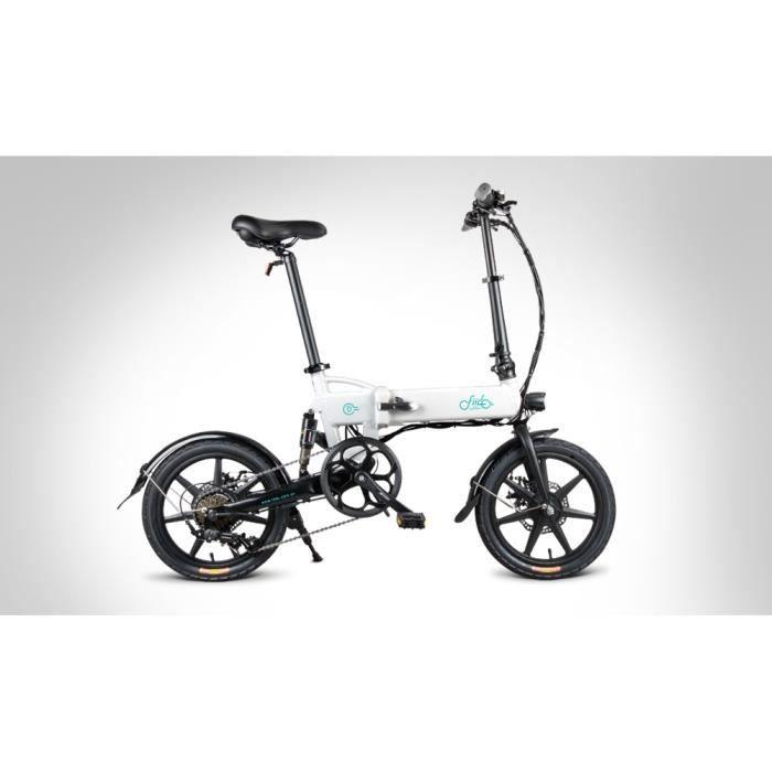 Cyclomoteur FIIDO D2s Vélo électrique à vitesse variable E-Scooter Pliable 7.8Ah 2600mAh 250W 25km/h Blanc