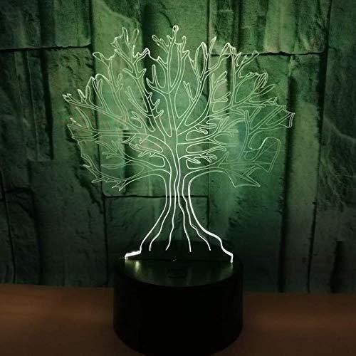 Hmnzxy Nouveau Grand Arbre 3D Lumière Touche Colorée Led Lumière Visuelle Cadeau Décoration Atmosphère 3D Petite Lampe D