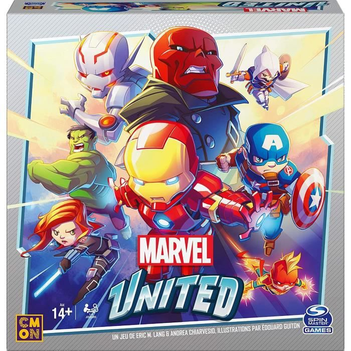 MARVEL UNITED - Jeu de cartes stratégique coopératif - Univers super Héros - 6059768 - jeu pour adultes et enfants à partir de 8 ans