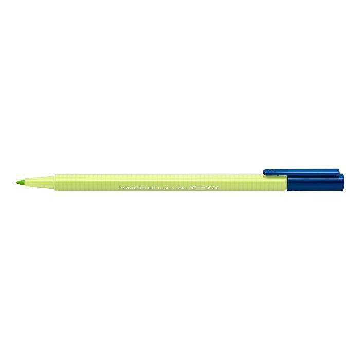 triplus® color 323 - Feutre coloriage pointe moyenne 1 mm vert citron