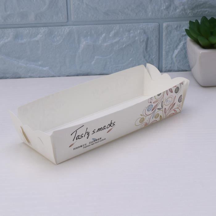 100pcs Hot Dogs jetables Pommes de terre frites Boulangerie Aliments Frits Boîte de papier d'emballage servant de KIT TATOUAGE