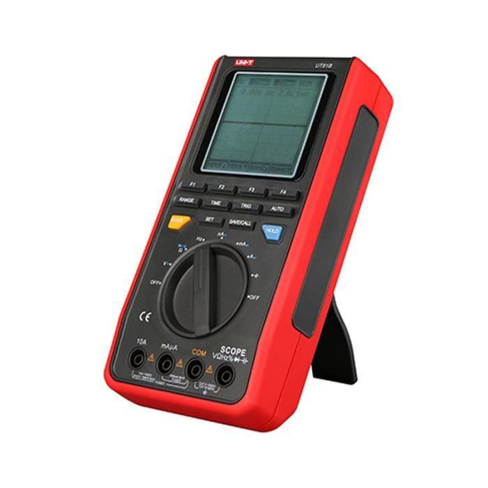 Multimètre À Oscilloscope Numérique LCD Branchement Uni-T UT81B Multimètre pour Courant AC-DC, Tension AC-DC