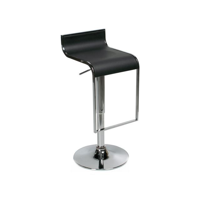 tabouret de bar moderne noir yohan achat vente tabouret cdiscount. Black Bedroom Furniture Sets. Home Design Ideas
