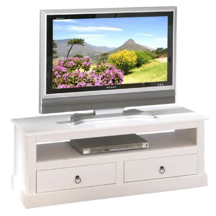 meuble tv blanc design rustique en pin massif achat vente meuble tv meuble tv blanc design. Black Bedroom Furniture Sets. Home Design Ideas