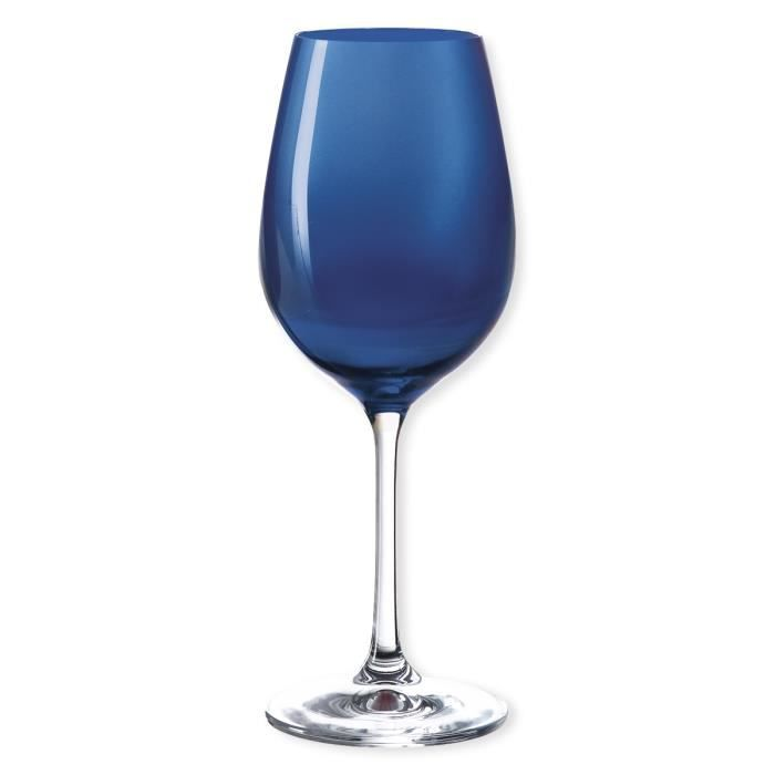 verres a vin bleu achat vente verres a vin bleu pas cher cdiscount. Black Bedroom Furniture Sets. Home Design Ideas