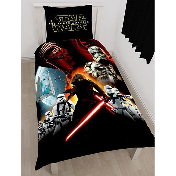 parure de lit star wars the force awakens achat vente housse de couette cdiscount. Black Bedroom Furniture Sets. Home Design Ideas