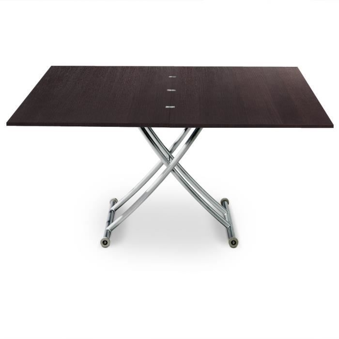 Table basse relevable carrera xl bois wenge achat for Alinea table basse bois