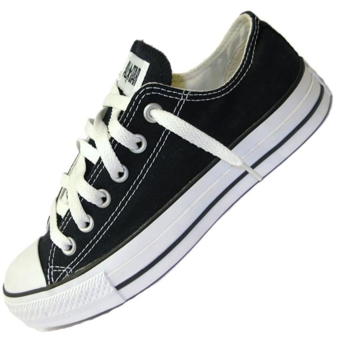 Top Converse - Basket - All Star Basse Ox - M9166 - Noir Noir Noir  ER06