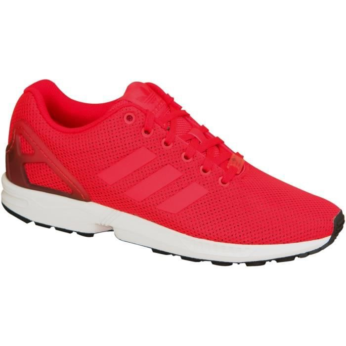 basket adidas zx flux rouge