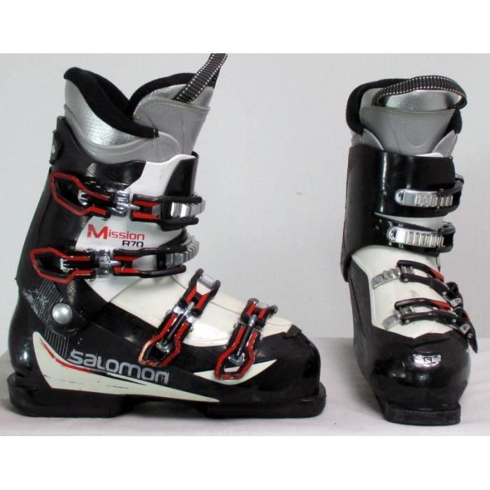 CHAUSSURES DE SKI Chaussure ski occasion Salomon mission R70 noir-bl