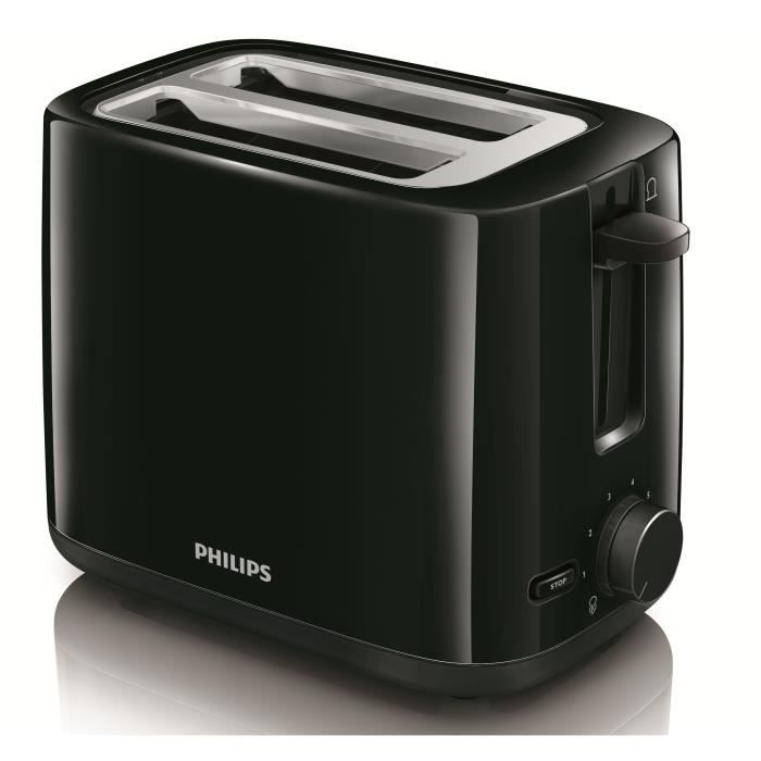 philips hd2595 90 grille pain daily collection noir achat vente grille pain toaster. Black Bedroom Furniture Sets. Home Design Ideas