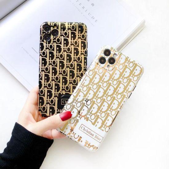 Coque iPhone 8 Plus-7 Plus,Christian Dior Noir Dorure Premium ...