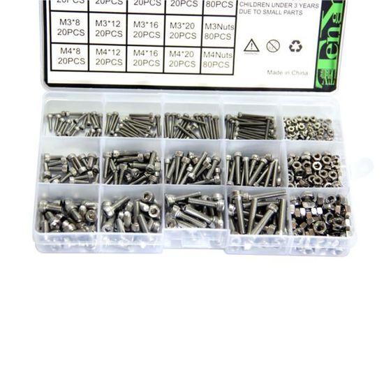 Xinrub 100 Pcs M3 Femelle Hex Filet/é Entretoise Noir Nylon Hex entretoise Boulons Nuts Assortiment Ensemble Avec Bo/îte En Plastique M3*5