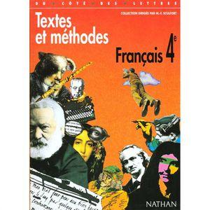 Textes Et Methodes Francais 4eme Achat Vente Livre Marie