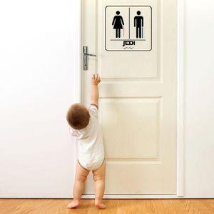 Autocollants De Porte De Toilette Pour Hommes Et Femmes Autocollants De Porte Vinyle Autocollant D/écoration 13X18Cm