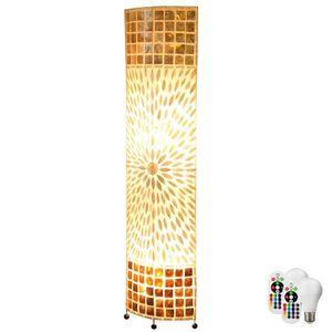 LAMPADAIRE Lampadaire textile uplight tissu coquille de lampe