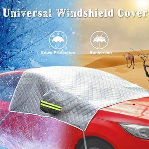 Saison Universelle 210 x 120cm Protection Contre la Neige Cozywind Couverture Pare-Brise Voiture Avant de Voiture Cache de Protection Pare-Brise Magn/étique Pliable Noir Protection UV