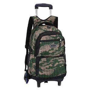 TROLLEY MATERIEL (VERT)Enfants Trolley école sac à dos 6 roues mode