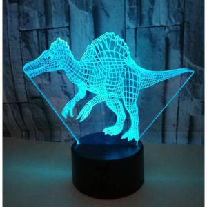 Dinosaure Nuit-Lumière DEL Couleur Changeante Enfants Chambre à coucher de l/'humeur Lampe Dino Fun