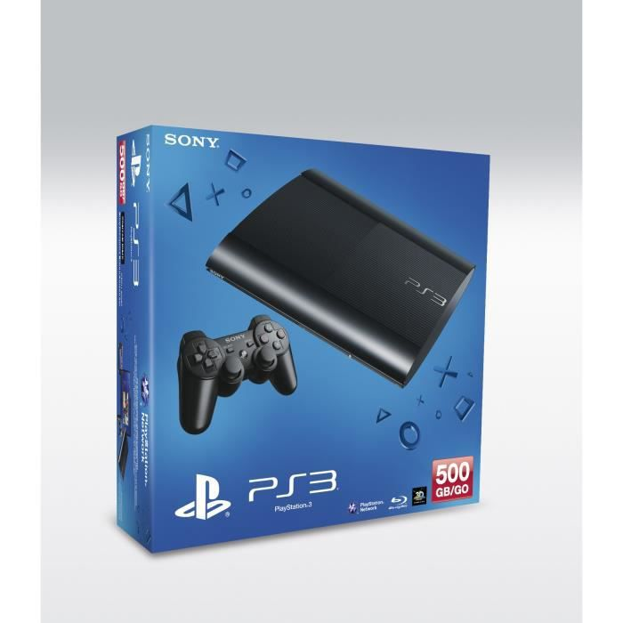 sony ps3 500 go noire console achat vente console ps3 sony ps3 500 go cdiscount. Black Bedroom Furniture Sets. Home Design Ideas