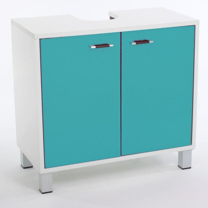glossy meuble sous lavabo turquoise achat vente meuble vasque plan meuble sous lavabo. Black Bedroom Furniture Sets. Home Design Ideas