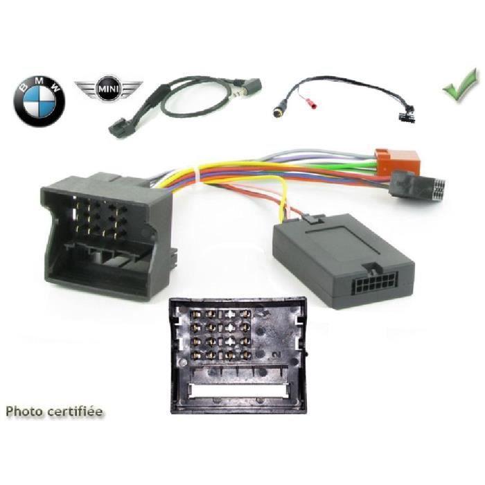 Interface Cde au volant BMW Serie 3/ 5/ X3/ X5/ Z4/ Mini Clarion - ADNAuto - ADN-CAVBM04CL