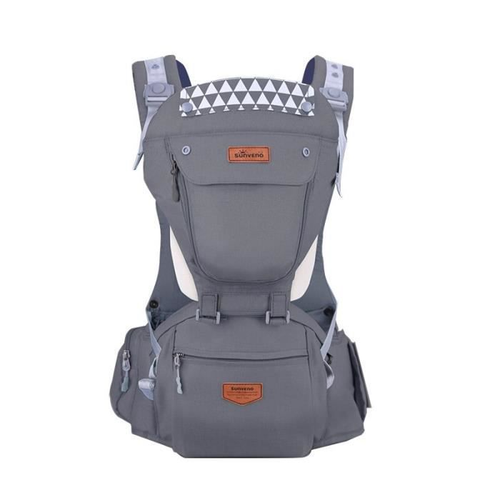 Gris # Marque Porte-bébé ergonomique Sling Sac à dos 360 Hipseat Bébé Wrap Sling pour nouveau-né Kangourou Porte-bébé Ceinture pour