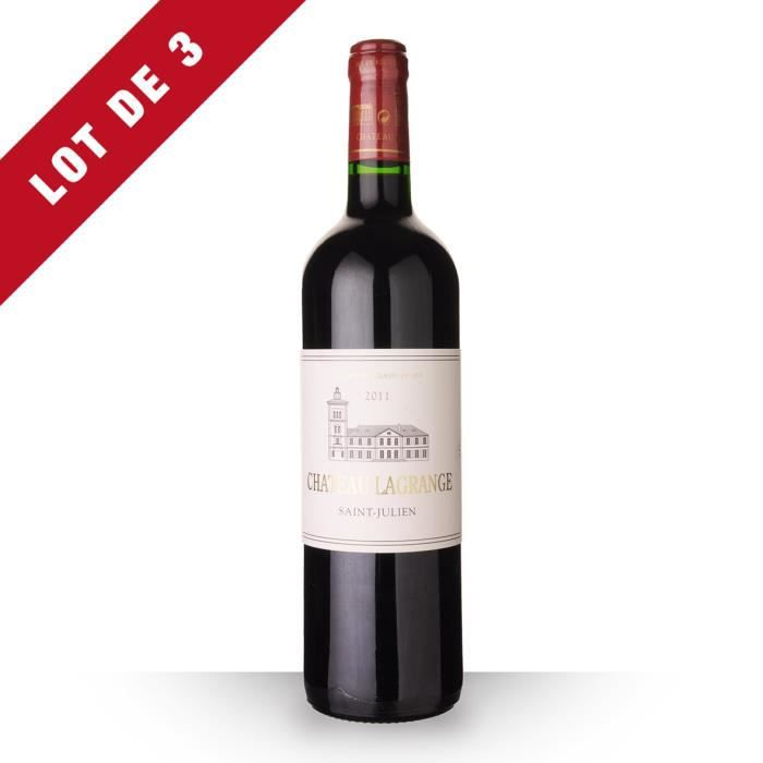 Lot de 3 - Château Lagrange 2011 AOC Saint-Julien - 3x75cl - Vin Rouge