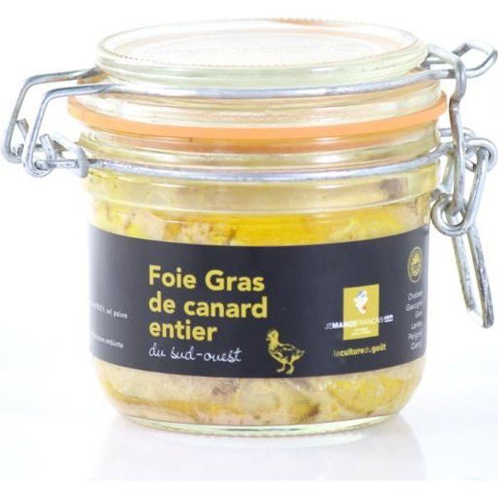 Foie Gras de canard entier IGP Sud-Ouest - Conserve de 190 g