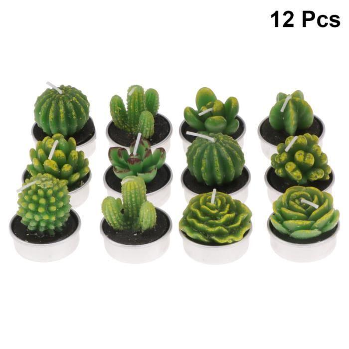 12pcs Plante De Simulation Bougie Chauffe-Plat Succulentes Mignonnes Décoratif Pour Mariage de commutateur kvm peripherique pc