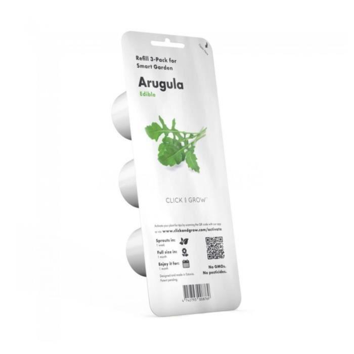 Graîne Roquette Verte Smart Garden Click&Grow 3 semis