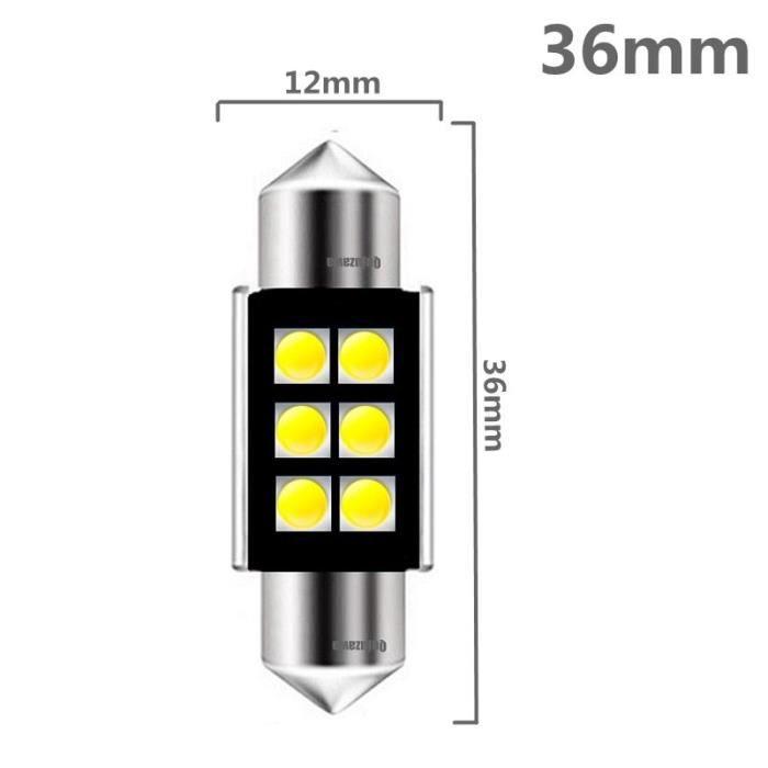 Festoon – lampe de lecture d'intérieur pour voiture, ampoule C5W, Canbus, sans erreur, haute qualité, 31mm, 36mm, 39mm, [7874001]