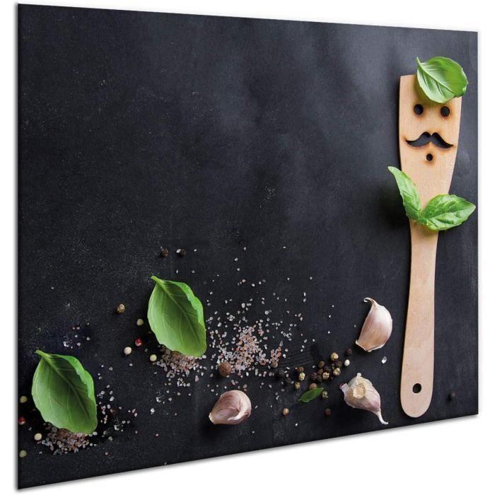 Couvercle de protection pour plaque à induction en céramique 60 x 52 cm - Crédence de cuisine - Planche à découper - Panneau de 121