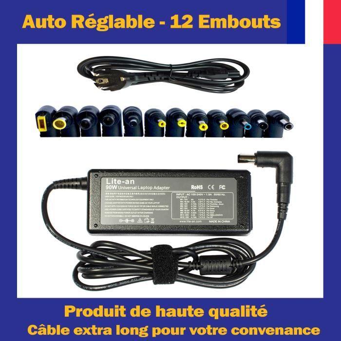 Chargeur Universel 90W Pour Hp Compaq Pavilion/Presairo/Elitebook/Envy/Stream Ordinateur Pc Portable Adaptateur Secteur
