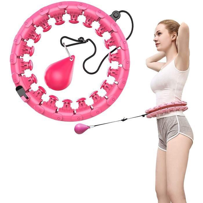 Cerceau Hula Hoop Fitness, Hula Hoops de Fitness et de Massage intelligents for Les Adultes Taille Réglable pour Perte de Poids