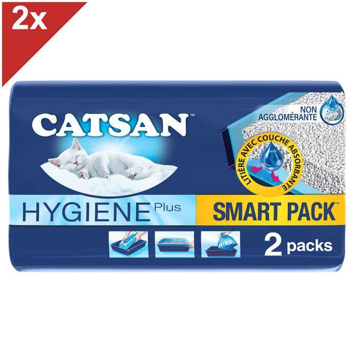 CATSAN Smartpack 4 Litières et sacs prêts à poser pour chat 4L (2x2x4L)
